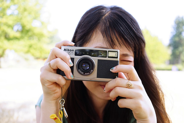 Saori-san and Nikon 35Ti