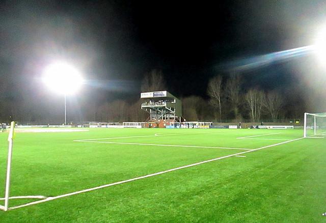 Park Hall Stadium, Oswestry, from northeast.