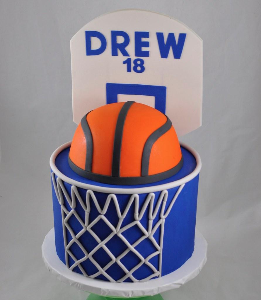 Swell Basketball Themed Cake Jenny Wenny Flickr Funny Birthday Cards Online Benoljebrpdamsfinfo