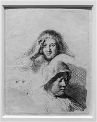 Rembrandt drawing of Saskia