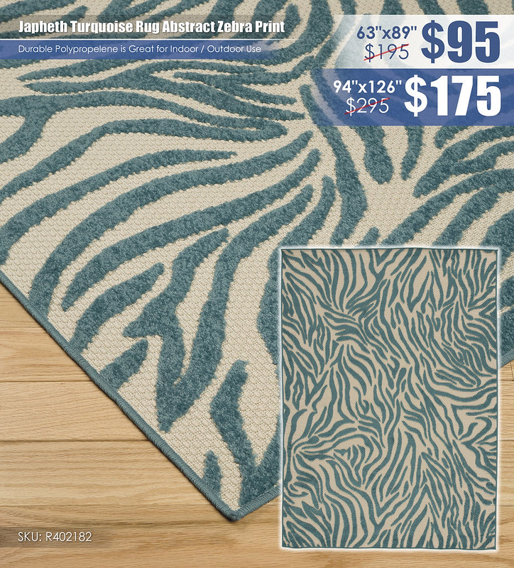 Japheth Turquoise Rug Abstract Zebra Print_R402182-1