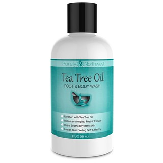 Antifungal Tea Tree Oil Body Wash, Helps Athletes Foot, Ringworm, Toenail Fungus, Jock Itch, Acne, Eczema & Body Odor- Soothes Itching & Promotes Healthy Feet, Skin and Nails 9oz | by ekosunaryo