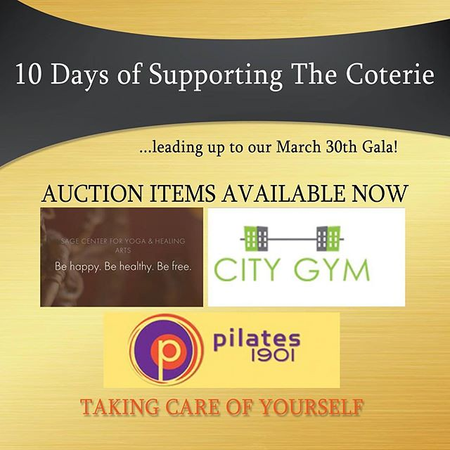 """Day 9-- Get involved NOW in our silent auction-- Today's featured items involve """"Taking Care of Yourself"""" – including a private @kalosexperience class, a 5 Class pass to Sage Yoga, City Gym Membership, @orangetheory Membership, Pilates 1901 Membership, @b"""