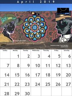 April 2019 Calendar: Downtown Las Vegas, Cosmic Punk Mural by Anthony N Ortega and Brett Rosepiler | by planeta