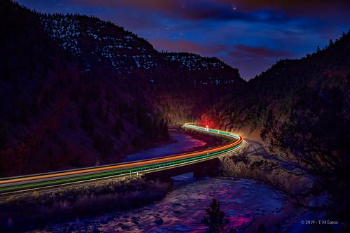 Colorful cutoff night