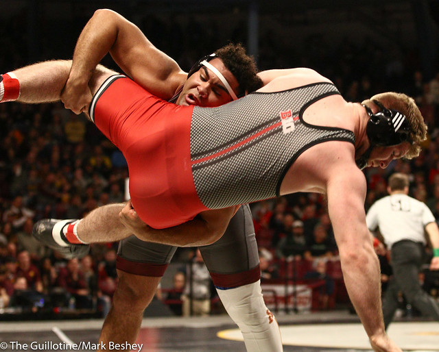 Champ. Round 1 - Gable Steveson (Minnesota) 29-0 won by tech fall over Christian Colucci (Rutgers) 15-12 (TF-1.5 6:38 (21-6)) - 1903amk0222