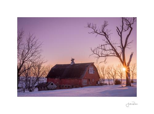 240 backroads barn fullframe illinois leica leicam nokton raw redbarn snow sunset voightlander voigtlandernokton50mmf12 winter oglesby unitedstatesofamerica us