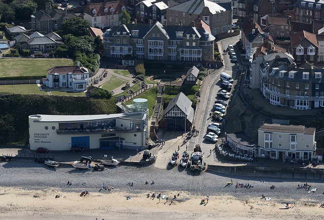The Gangway & Esplanade at Cromer in Norfolk - uk aerial