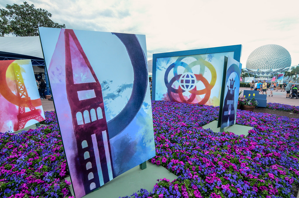 Epcot entrance Festival of Arts