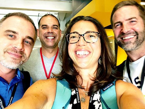 A little Yokohama reunion with Fred, @frank_curkovic and @ticooms at #etc2019bkk! Thank you EARCOS for bringing us together! | by superkimbo