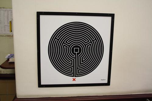 London Underground Labyrinth 124 Putney Bridge Close up