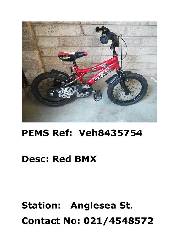 Anglesea Street - red BMX - Veh8435754