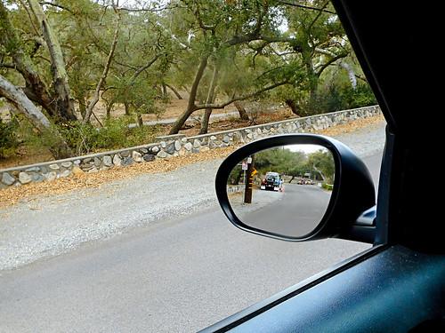 trabucocanyon california oneillregionalpark liveoakcanyonroad mirror sidemirror car automobile nissanjuke liveoaks coastliveoaks rearviewmirror