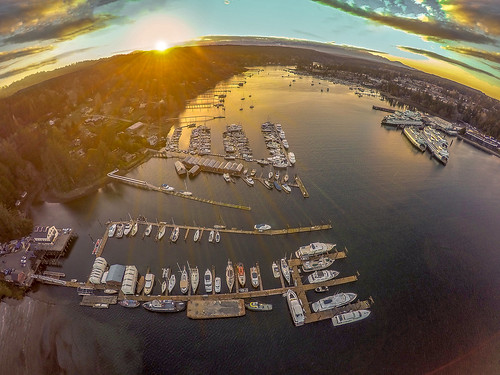 marina marine bainbridge ferry terminal sun water landscape 5dsr canon fisheye art seascape view sunset xfold rigs dragon x12 u11 drone boat ship