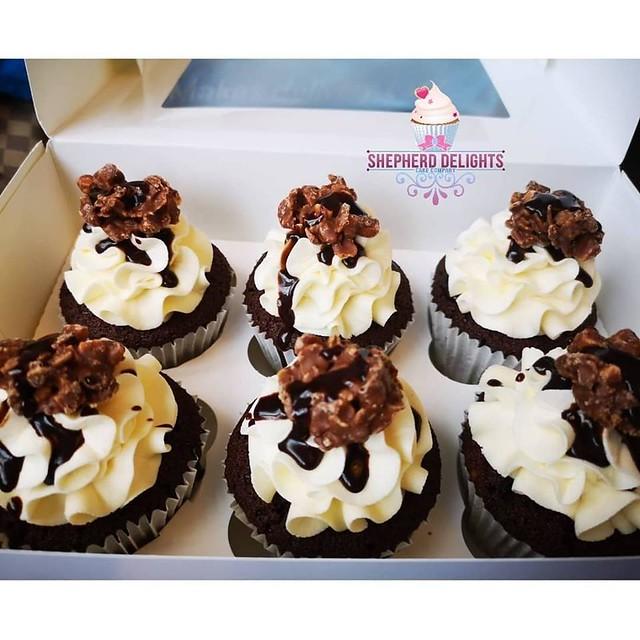 Crunchie Rock Cupcakes