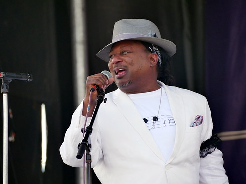 Kermit Ruffins on Day 1 of French Quarter Fest - 4.11.19. Photo by Louis Crispino.