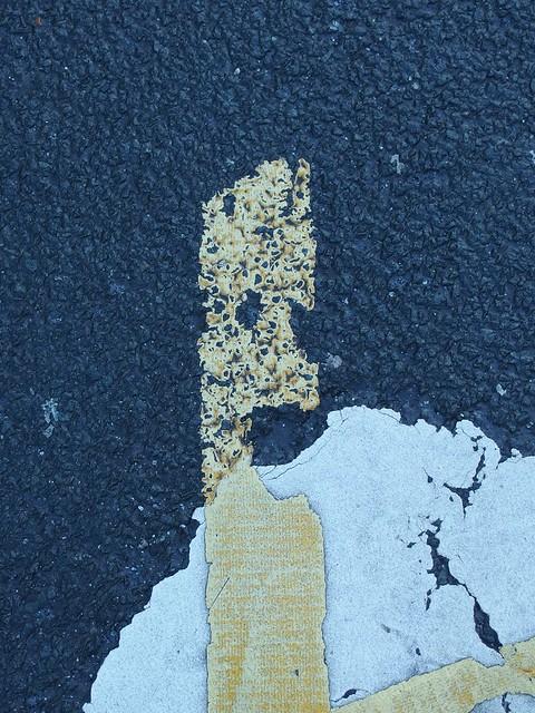 Found Street Marking Face
