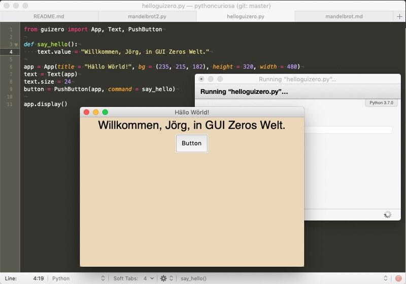 Hello GUI Zero