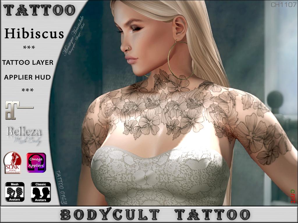BodyCult Tattoo Hibiscus CH1107