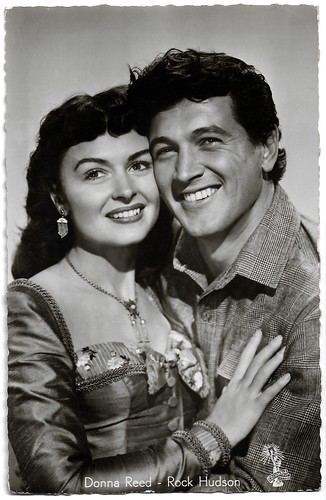 Donna Reed and Rock Hudson in Gun Fury (1953)