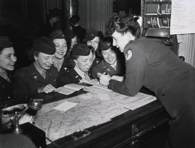 Army Nurses at the Women Officers' Club, Paris, France