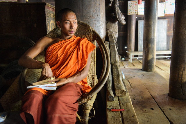 A monk in a monastery - Mandalay