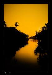 Sunset at Bekal Back Waters, Kerala