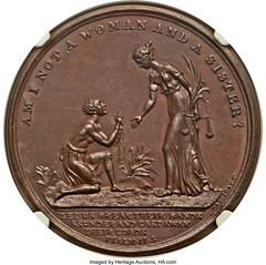Abolition of Slavery in the Colonies Medal obverse