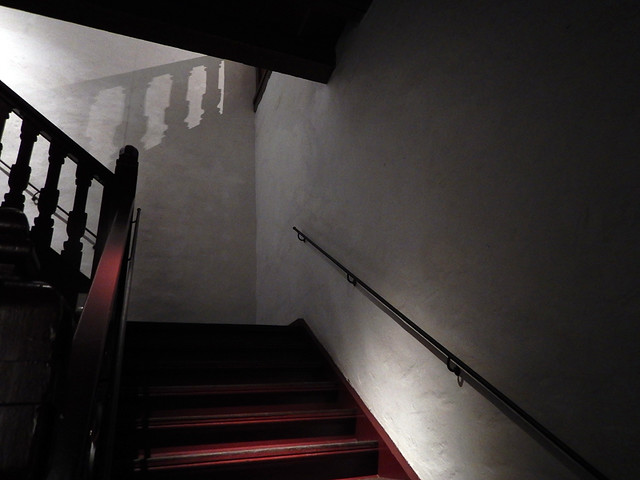 Stairs with shadows at a church/gallery in Copenhagen, Denmark
