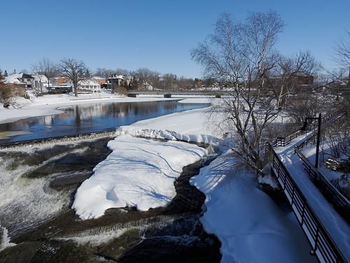 almonte ontario canada winter hiver snow neige mississippimills mississippiriver riverwalk