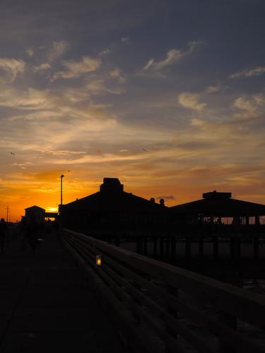 corpuschristi texas usa water sea bay ocean coast coastline people beach waterfront padreisland bobhallpier eveningcolours sky sunset pier sun eveningsky clouds dnysmphotography dnysmsmugmugcom