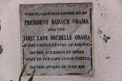 The Obamas visit to Cape Coast Castle in Ghana