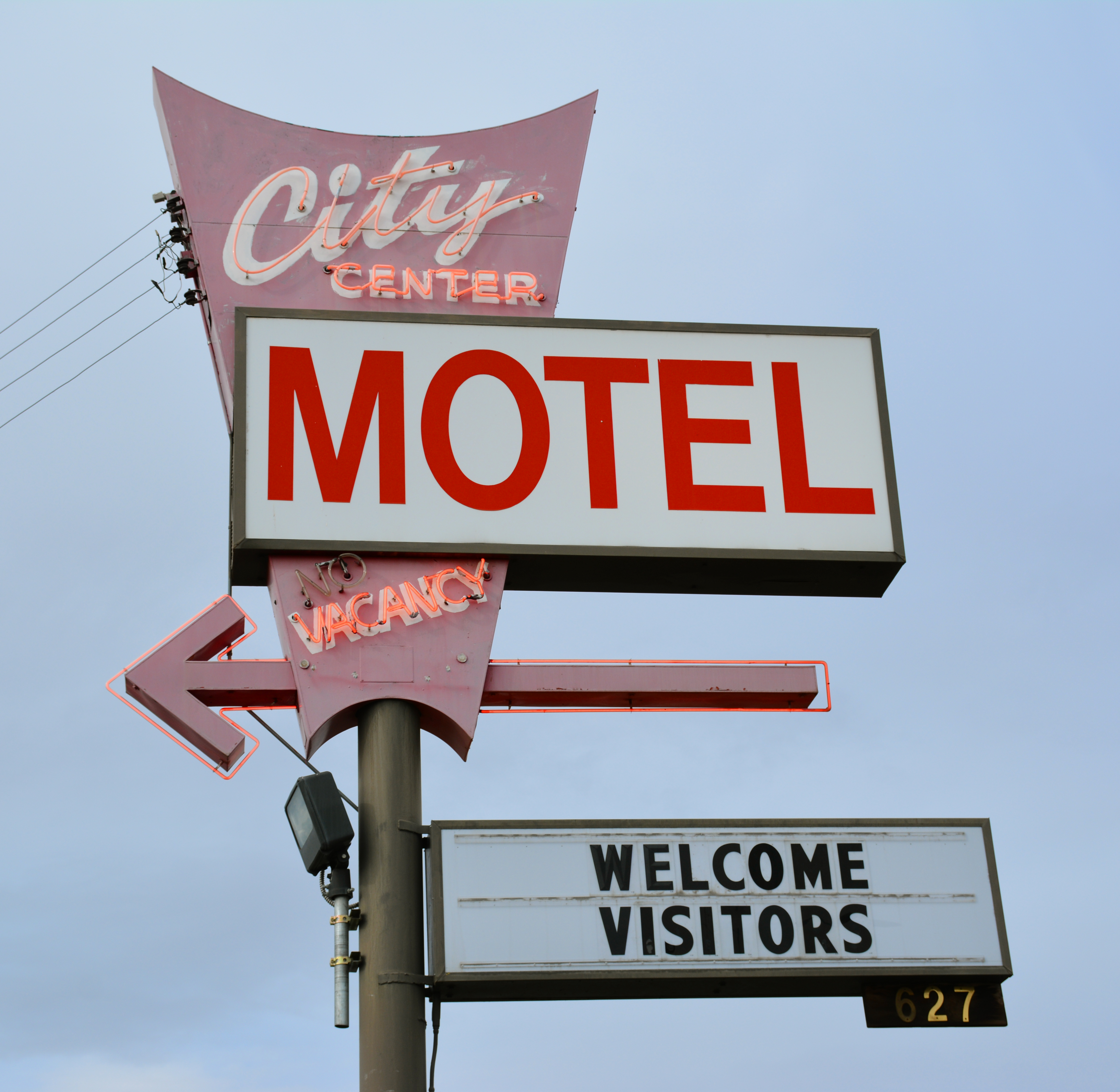 City Center Motel - 627 West Main Street, Walla Walla, Washington U.S.A. - March 22, 2019