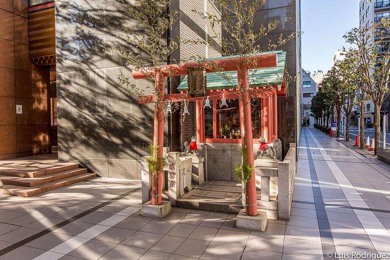 Pequeño santuario inari del teatro de kabuki Meiji-za