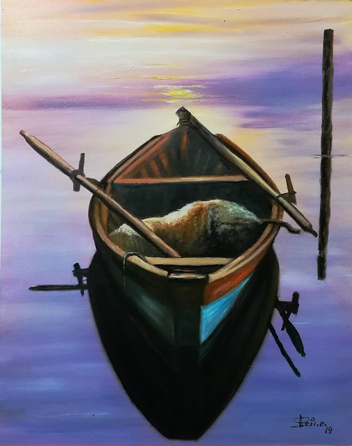 Barca al tramonto.