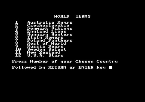 Speedway World Cup Knockout (Amstrad CPC)   by Deep Fried Brains