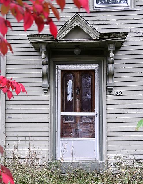 Old door on Oak Street, Ellsworth, Maine