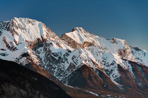 tyrol austria miemingerkette oberland mountains snow sunrise winter berge schnee sonnenaufgang tirol hdr haiming österreich at