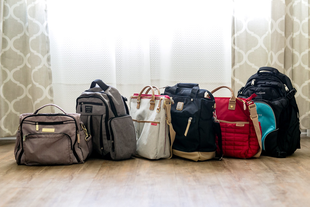 Best diaper bags lined up