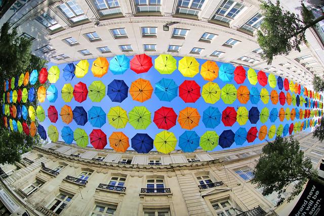 Colourful Umbrella Canopy
