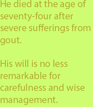 5-4 his will is no less remarkable for carefulness and wise management