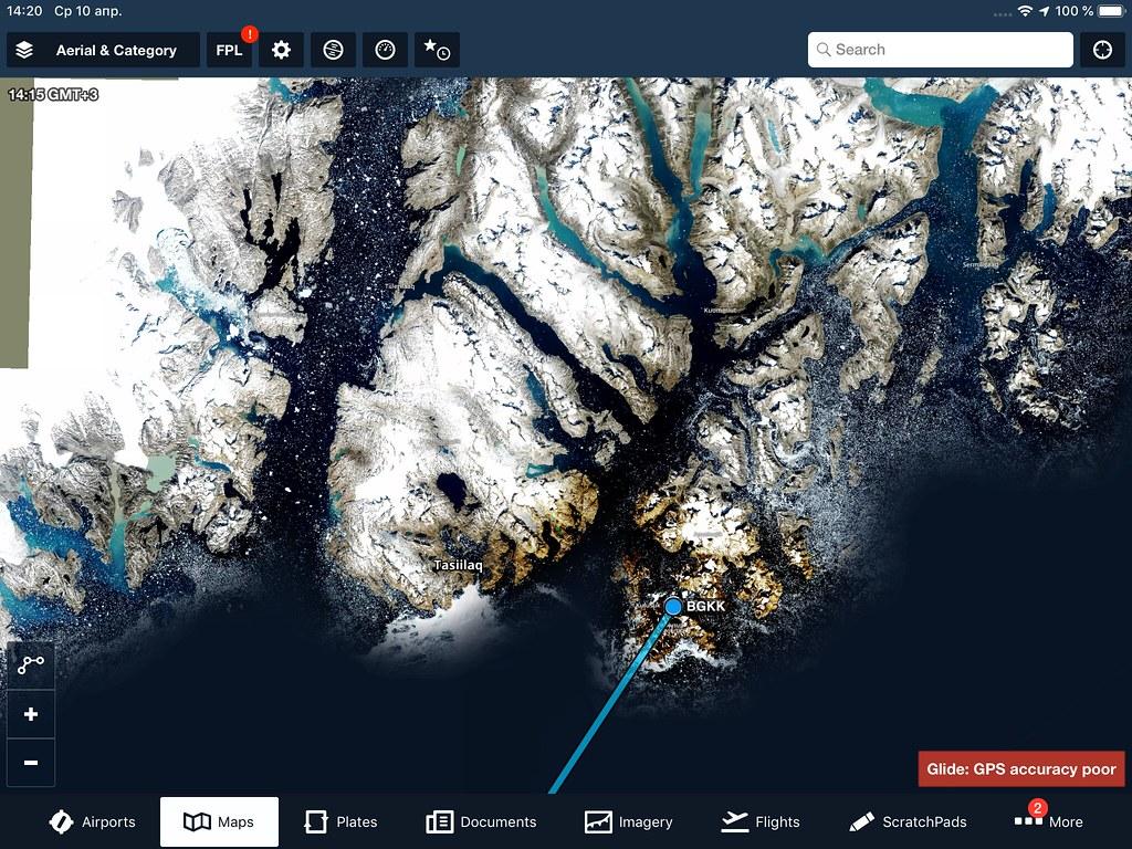 Кулусук на спутниковом снимке