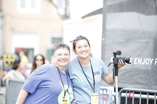 Beth Arroyo Utterback and Marion Hill on Day 2 of French Quarter Fest - 4.12.19. Photo by Michele Goldfarb.