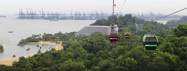 Juxtaposition of Singapore at Sentosa island