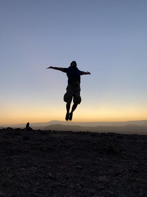 Sunset, the Coyote Stone (Piedra del Coyote), the Valley of the Moon (Valle de la Luna), San Pedro de Atacama, the Atacama Desert, Chile.