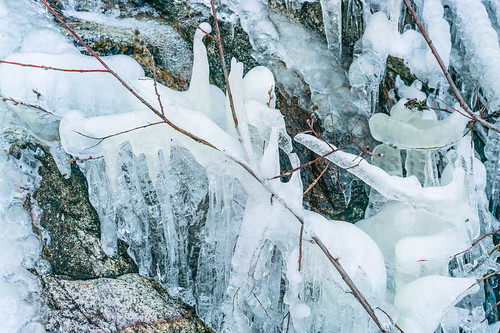 1902 Ice at a canyon crossing on the Knagge Trail | by c.miles