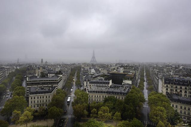 Tour Eiffel view from Arc de Triomphe - Paris - France