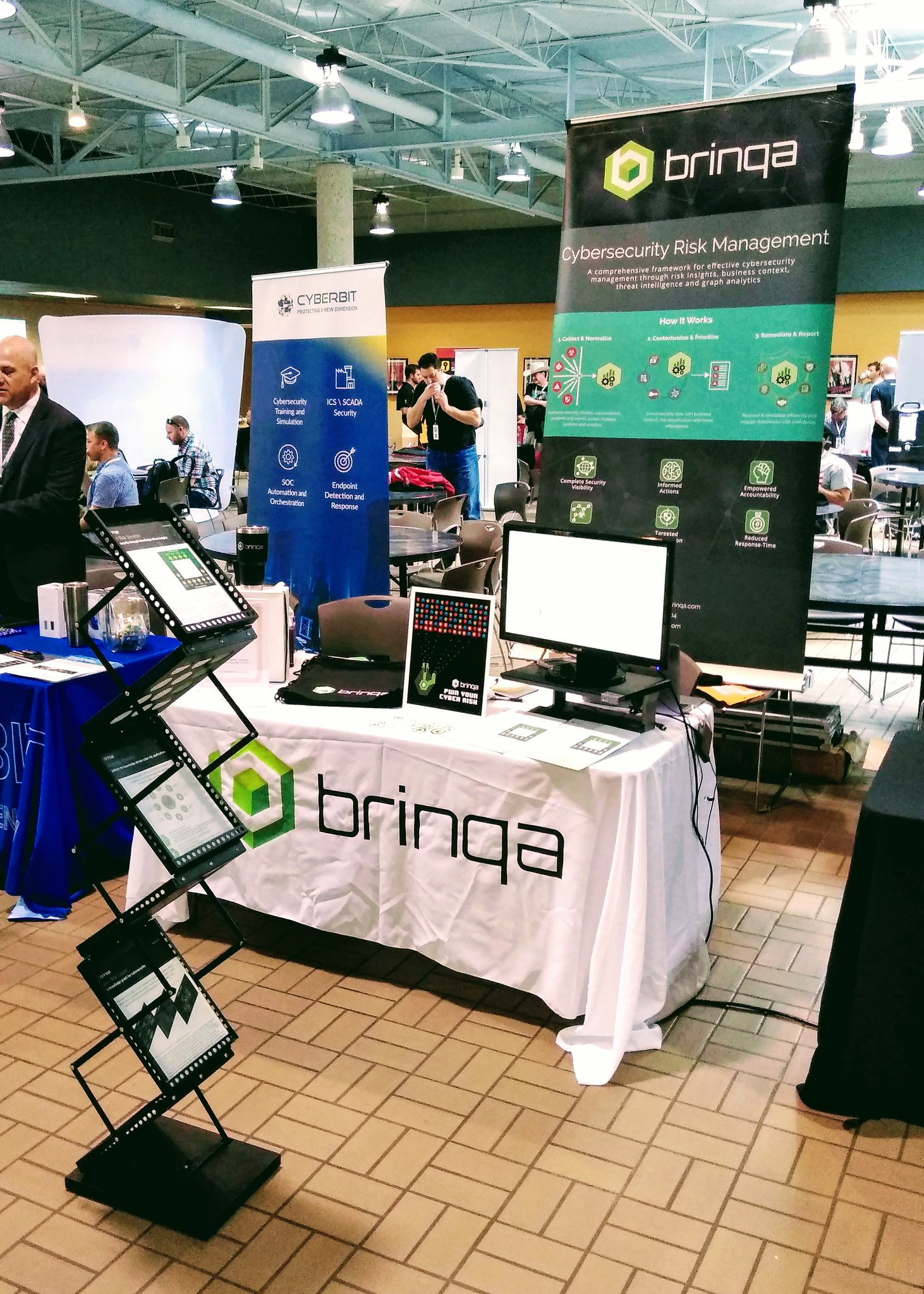Brinqa Booth at BSides Austin March 2019