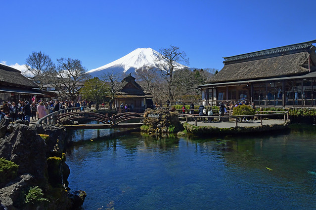 Mount Fuji and a crystal clear pond