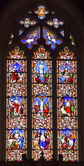 east window (1860s, attributed Ann Owen - actually William Wailes?)